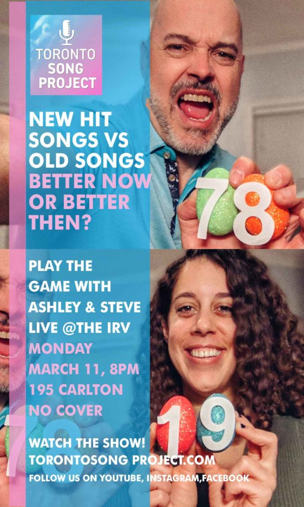 Better Now or Better Then LIVE at The Irv Gastro Pub, Poster for the Irv Gastro Pub, Steve Diguer and Ashley Amar, Toronto, MARCH 11 2019